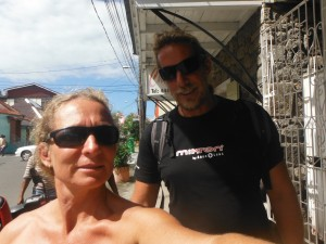 Thomas and me exploring Roseau the capital of Dominica