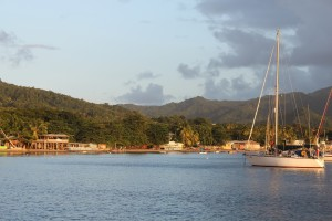 One of our moorings in Dominica