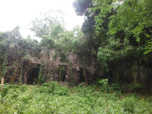 An old sugar mill along the way on the hash run