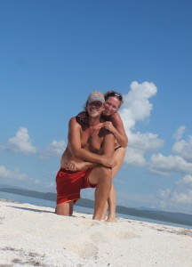 Thomas and I on Little Pelican Cay