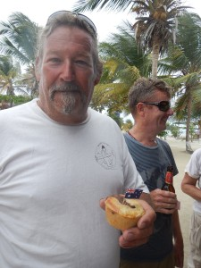 A true blue dinky di good bloke, Ian, with one of the meat pies he made to share at the Australian Day barbie.