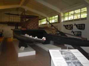Canoes in the Suva museum