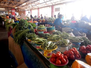 Delicious food at the markets in Suva