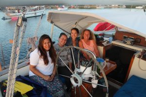 The ladies from the Peace Corp. We had a beautiful three day sail with them.