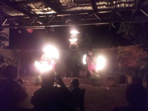 This was the best fire dancing I've ever seen in my life. Awesome. Didn't know it originated here.
