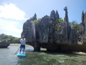 Dragons and gargoyles watched over us as we paddled about the rocks.